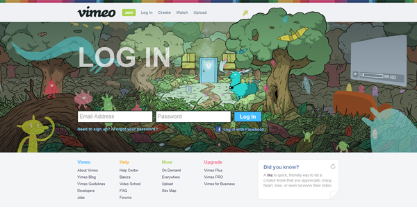Log-In-to-Vimeo