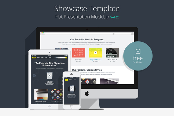 Flat-Responsive-Showcase-Psd-Vol2