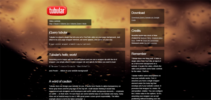 5tubular--a-YouTube-Background-Player-jQuery-Plugin---Sean-McCambridge-Design
