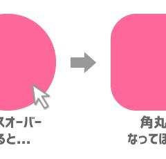 【jQuery】「.animate」で「border-radius」の値を変更すると変な動きをする