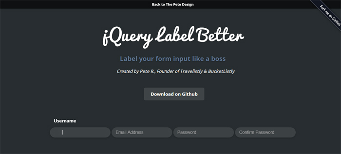 jQuery-Label-Better-by-Pete-R