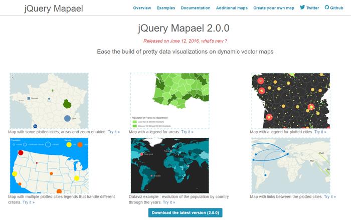jQuery-Mapael