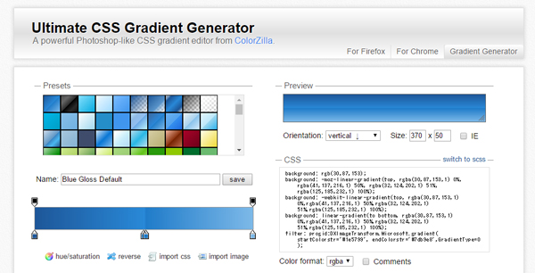 2Ultimate-CSS-Gradient-Generator